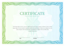 Certificate. Template diplomas, currency. Vector vector illustration