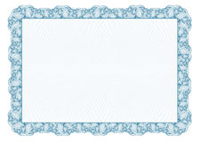Certificate. Template diplomas, currency. Vector stock illustration