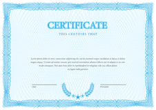 Certificate. Template diplomas, currency. Vector Stock Image
