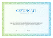 Certificate. Template diplomas, currency. Vector Royalty Free Stock Image