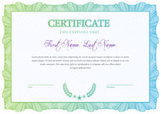 Certificate. Template diplomas, currency. Vector Royalty Free Stock Photos
