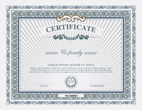 Certificate template and element. Royalty Free Stock Images