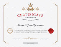 Certificate template and element. Royalty Free Stock Image