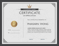 Certificate template and element. Royalty Free Stock Photos