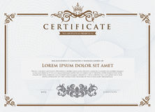 Certificate template and element. Stock Photography