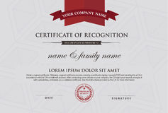 Certificate template and element. Royalty Free Stock Photo