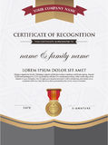 Certificate template and element. Royalty Free Stock Photography