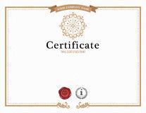 Certificate template and element. Stock Photo