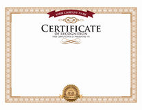 Certificate template and element. Stock Photos