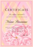 Certificate template with frame border and pattern. Design for Diploma, certificate of achievement Royalty Free Illustration