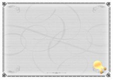Certificate Template Gray. An empty certificate template royalty free illustration