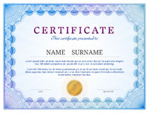Certificate template with guilloche elements Royalty Free Stock Photos