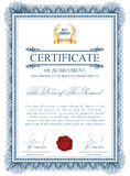 Certificate template with guilloche elements. Stock Images
