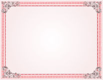 Certificate Template Guilloche Red Royalty Free Stock Images