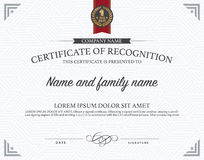 Certificate template. Royalty Free Stock Image