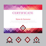 Certificate template layout background frame design vector. mode Stock Image