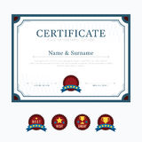 Certificate template layout background frame design vector. mode Stock Photo