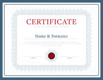 Certificate template layout background frame design vector. mode Stock Photos