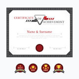 Certificate template layout background frame design Stock Photos