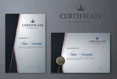Certificate template with luxury and modern pattern,diploma,Vector illustration vector illustration