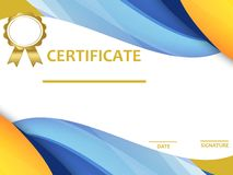 Certificate template with luxury and modern pattern,diploma. Vector illustration. stock illustration
