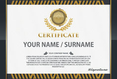 Certificate template with luxury pattern,diploma,Vector illustra Stock Photography
