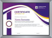 Certificate Template. Modern Certificate / diploma Template design, in a4 size royalty free illustration