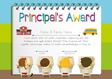 Certificate template for principal`s award Royalty Free Stock Image