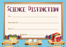 Certificate template for science distinction Stock Photography