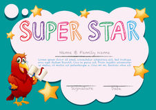 Certificate template for super star Stock Photography