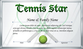 Certificate template for tennis award stock vector illustration of certificate template for tennis star royalty free stock image yadclub Gallery