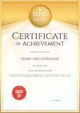 Certificate template in vector for achievement graduation comple Royalty Free Stock Images