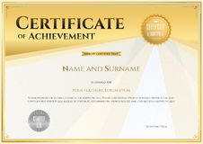 Certificate template in vector for achievement graduation comple Stock Image