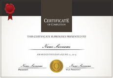Certificate template Royalty Free Stock Image