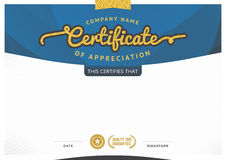 Certificate template. Royalty Free Stock Images