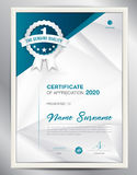 Certificate template vector illustration, diploma layout in a4 Royalty Free Stock Photo