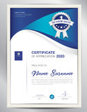 Certificate template vector illustration, diploma layout in a4  Stock Photos
