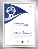Certificate template vector illustration, diploma layout in a4 Stock Photography