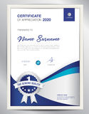 Certificate template vector illustration, diploma layout in a4 Stock Images