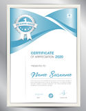Certificate template vector illustration, diploma layout in a4. Size, business flyer design, advertisement, printing, achievement, Appreciation, corporate event Stock Image