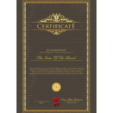 Certificate template Stock Photography