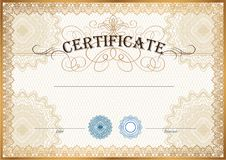 Certificate template Royalty Free Stock Images