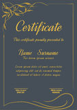 Certificate template,vector illustration. A4 vertical vintage art deco certificate template,vector illustration Stock Image
