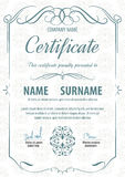 Certificate template,vector illustration. A4 vertical vintage art deco certificate template,vector illustration Royalty Free Stock Photos