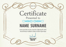 Certificate template,vector illustration Royalty Free Stock Photo