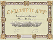 Certificate template Stock Images