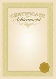 Certificate template Stock Image