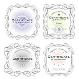 Certificate templates Stock Images