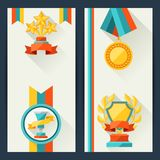 Certificate templates with trophies and awards Royalty Free Stock Photography