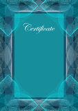Certificate, vector background Stock Images